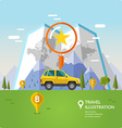 Traveling By Car vector image