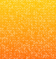 Triangles orange technology pattern vector image