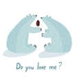 Polar Bears Love and Ice Cream vector image