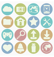 white icons web vector image