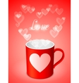 Cup with Hearts vector image