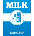 Milk delivery advertising poster vector image