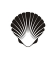 Scallop seashell icon vector image