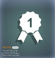 award medal icon On the blue-green abstract vector image