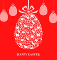 easter decor hang red vector image vector image