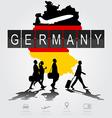 Silhouette people on germany digital board vector image vector image
