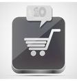 Shopping app icon vector image