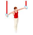 Gymnastics Still Rings 2016 Sports 3D vector image
