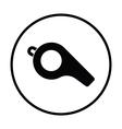 American football whistle icon vector image
