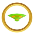 Baseball field icon vector image