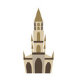 bern minster isolated historic architecture vector image