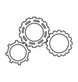 gears engineering mechanical wheel cogs vector image