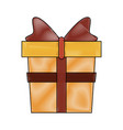 giftbox present isolated vector image