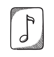 Multimedia music audio note symbol vector image