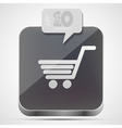 Shopping app icon vector image