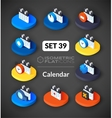Isometric flat icons set 39 vector image vector image