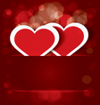 Sparkling hearts stickers vector image vector image