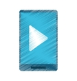 drawing smartphone player music technology vector image