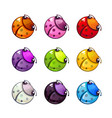 funny colorful bugs set vector image