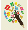 Summer tree pencil concept vector image