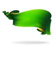 green ribbon banner vector image vector image