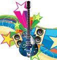 funky guitar vector image