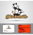 blacksmith logo smithy or farrier forge vector image