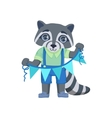 Boy Raccoon With Garland vector image