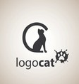 cat logo 1 vector image