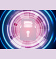 abstract blue purple glowing tech security vector image