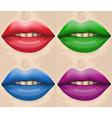 big lips vector image