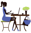 Business woman working vector image