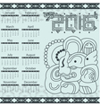 Calendar in aztec style with hieroglyphs vector image