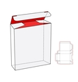 Cool Realistic White Package Cardboard Box Opened vector image