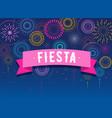fiesta fireworks and celebration background vector image