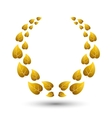 golden laurel wreath for winner vector image