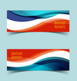 horizontal banner set7 vector image