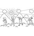kids walking to school vector image