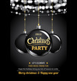 merry christmas party ball and light on dark vector image
