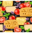 Seamless cheese and tomato vector image