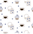 tea package seamless pattern vector image