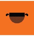 Kitchen colander icon vector image