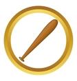 Baseball crossed bat icon vector image