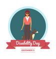 world disability day greeting card vector image