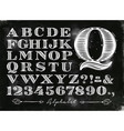 vintage alphabet chalk vector image