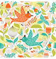 seamless pattern with a birds vector image
