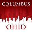Columbus Ohio city skyline silhouette vector image vector image