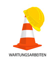 Traffic cone and building helmet vector image