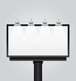 empty billboard signsignboard modern banner vector image vector image