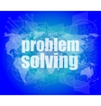 business concept words problem solving on digital vector image vector image